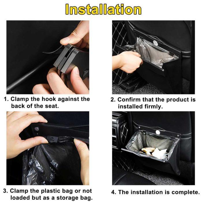 Vehicle Storage Back Seat LED Bag