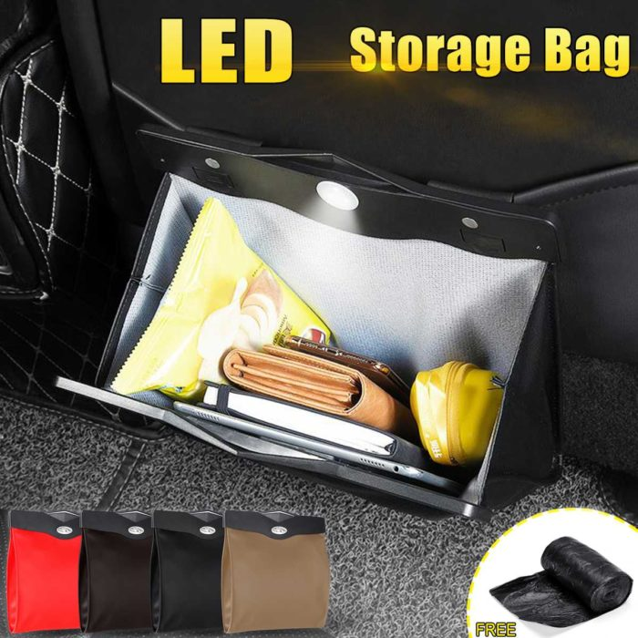 Vehicle Storage Back Seat LED Bag