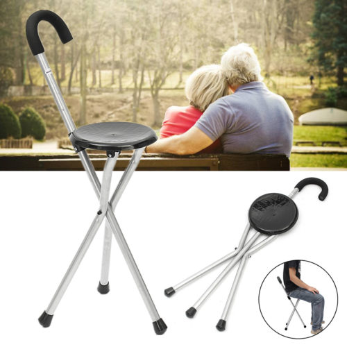 Walking Stick With Seat Portable Stool