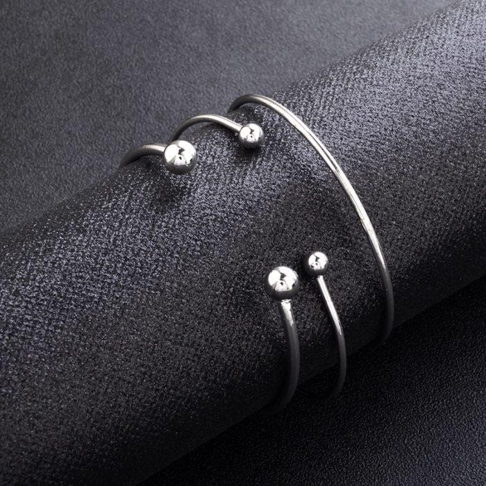 Silver Bangles Fashion Bracelets