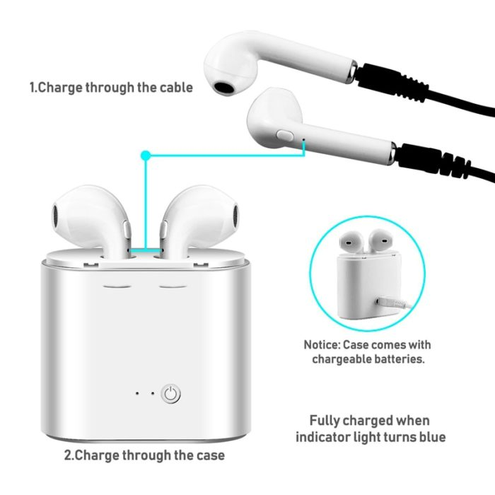 Cordless Earphones Bluetooth Headset