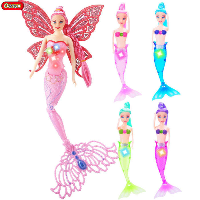 Mermaid Toys LED Princess Swimming Doll