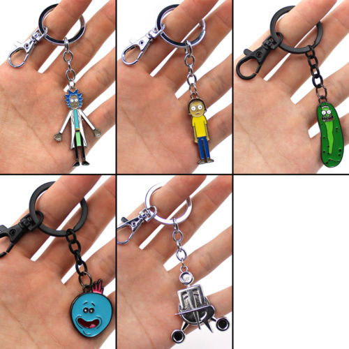 Rick and Morty Merchandise Keychain Collection