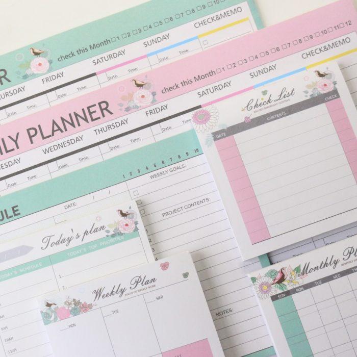 Planner Pad Desk Memo Organizer