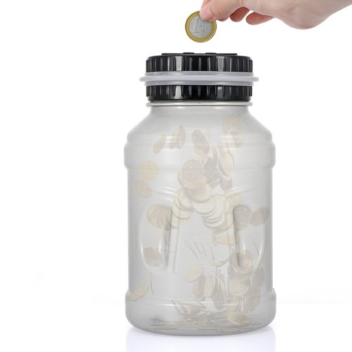 Coin Counter Bank Glow in the Dark (Euro)