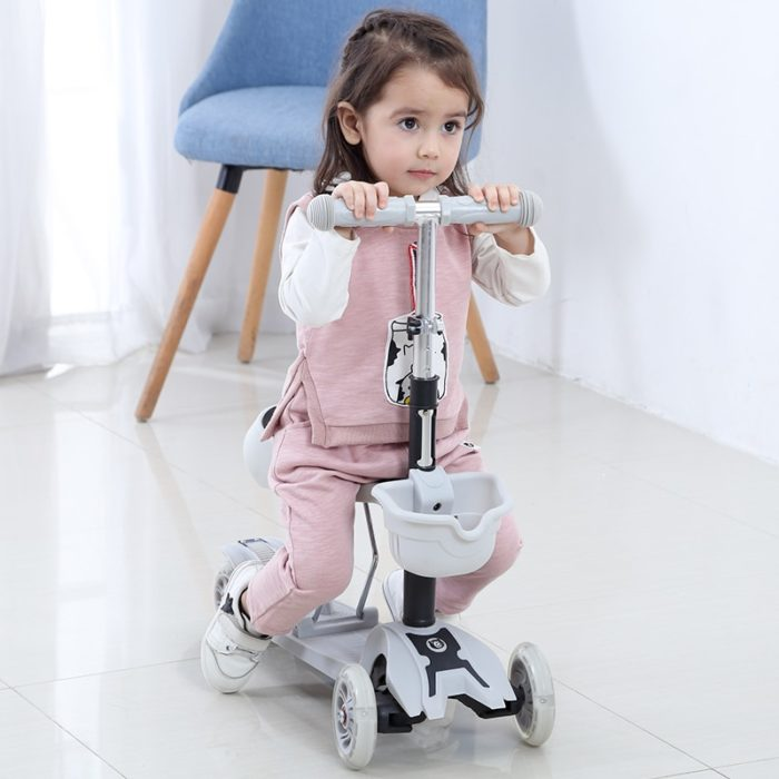 Three Wheel Scooter Removable Seat For Kids