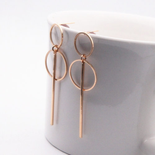 Drop Earrings In Gold and Silver
