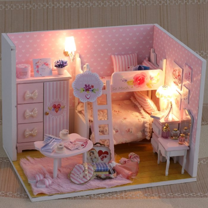 Doll House For Kids DIY Miniature Puzzle