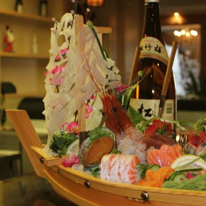 Sushi Platter Wooden Boat Tray