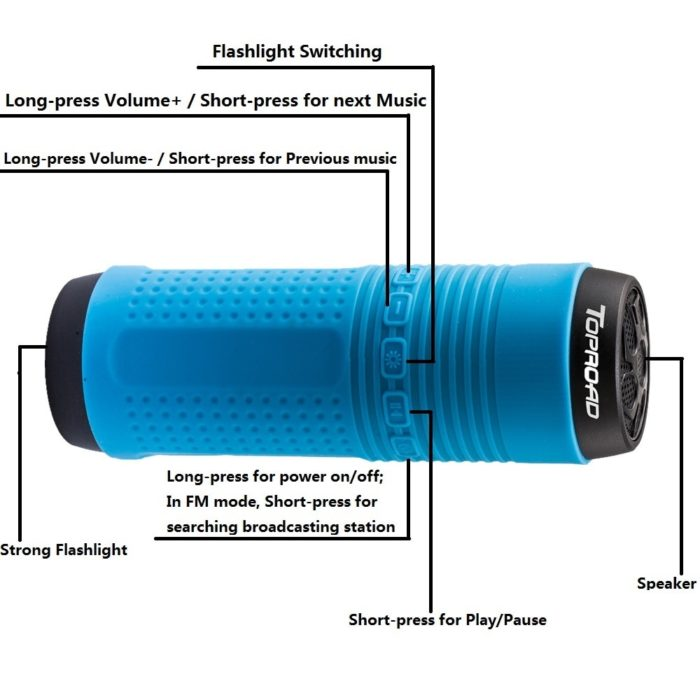 Waterproof Bluetooth Speaker Bicycle Flashlight