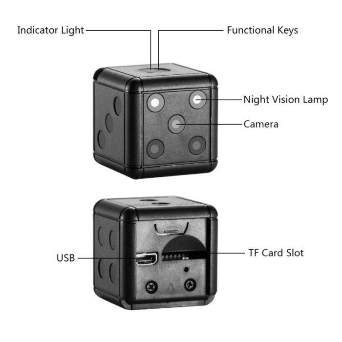 Night Vision Camera Dice Camcorder