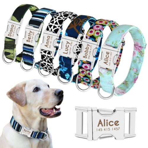 Personalized Dog Collars Engraved Nameplate