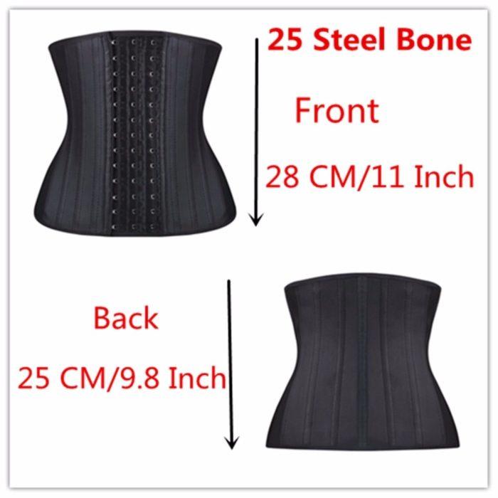 Latex Waist Trainer 25 Steel Bones