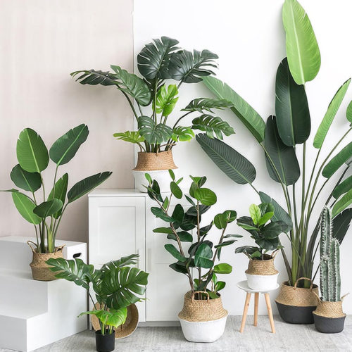 Faux Plants Artificial Leaves Decor