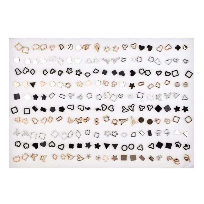 Small Earrings 100pairs Jewelry Set