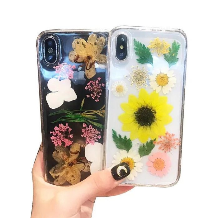 Clear iPhone Case Dried Flowers
