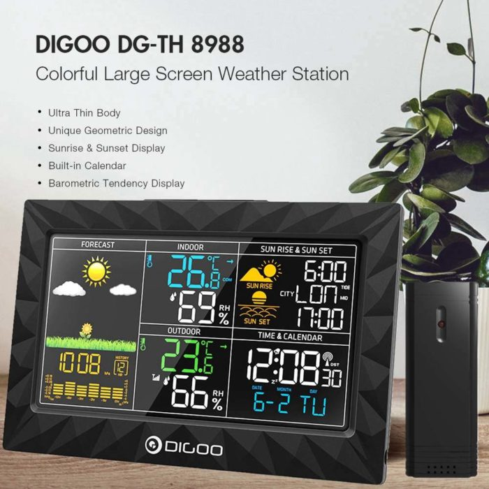 Weather Clock Forecast Digital Device