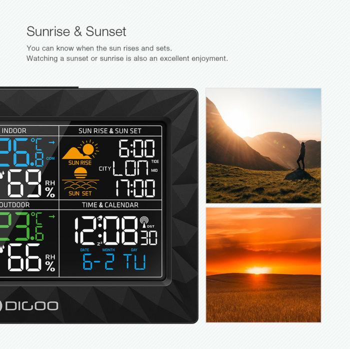 Weather Clock Forecast Digital Device