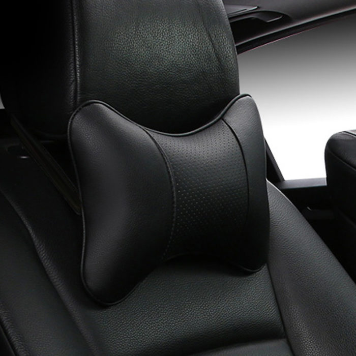 Car Pillow Leather Neck Cushion