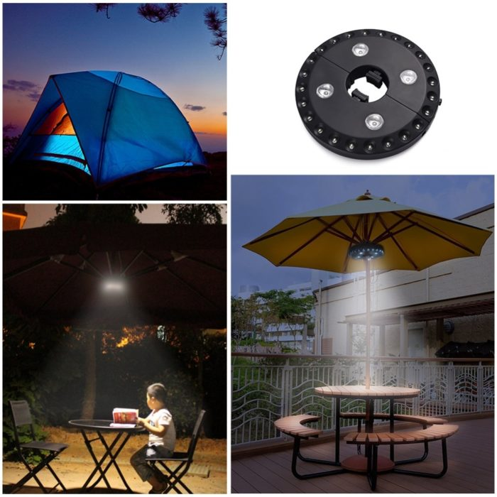 Patio Umbrella Lights Wireless LED Lamp