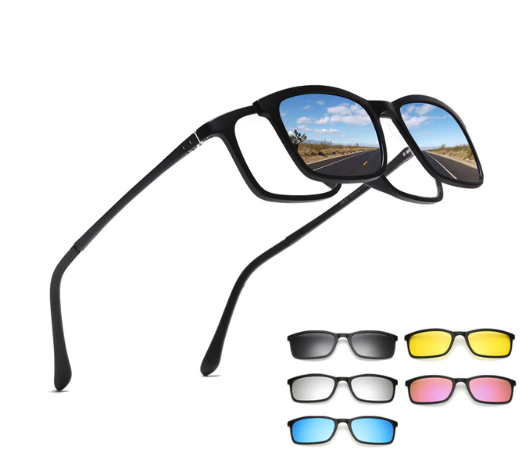 Clip On Glasses 5in1 Magnetic Eyewear