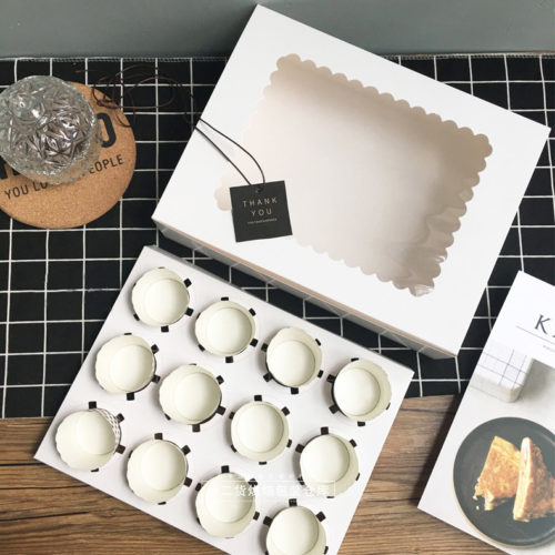Cupcake Boxes 5pcs Kraft Storage