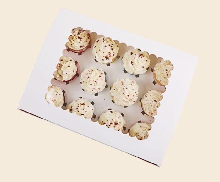 Cupcake Boxes 5pcs Kraft Storage