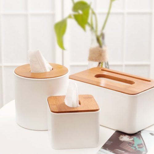 Tissue Box With Cellphone Holder