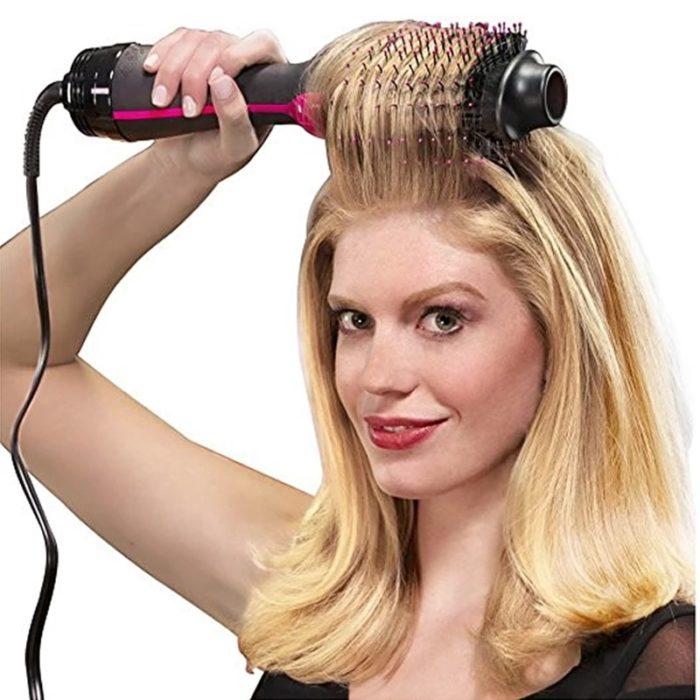 Hair Dryer Brush Straightener Tool