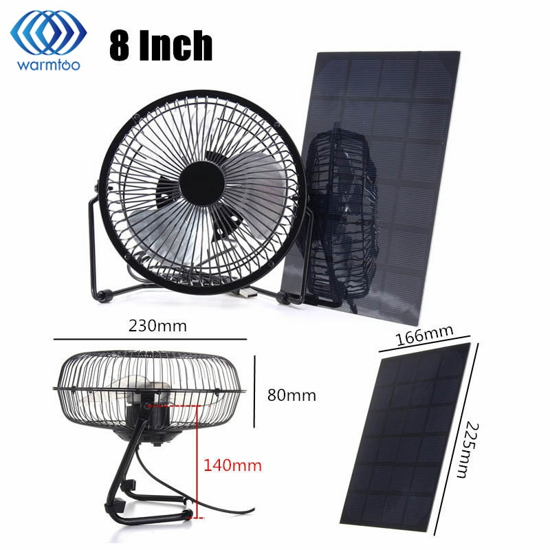 Solar Powered Fan Portable Cooling Ventilation - Life ...