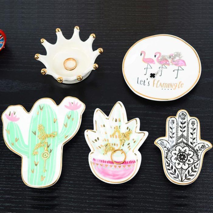 Ceramic Dish Cute Jewelry Tray
