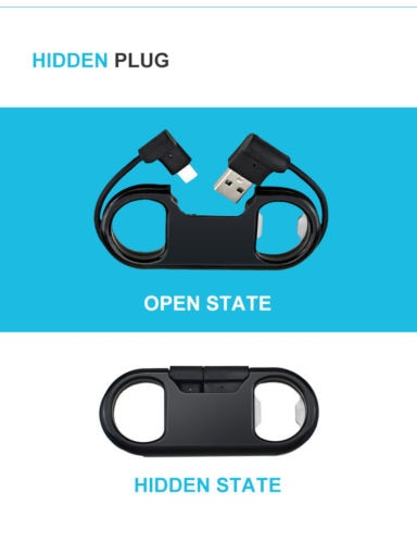 Micro USB Cable Keychain Bottle Opener