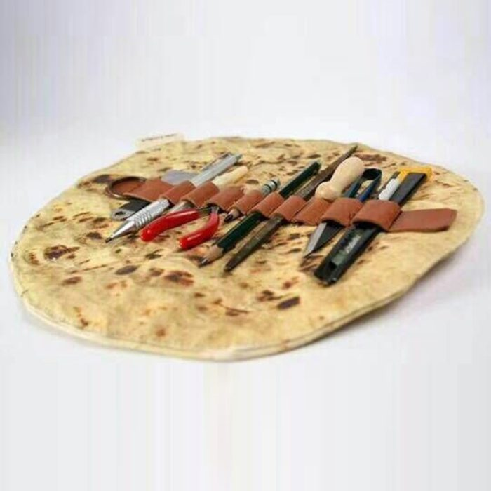 Makeup Pouch Tortilla Wrap Design