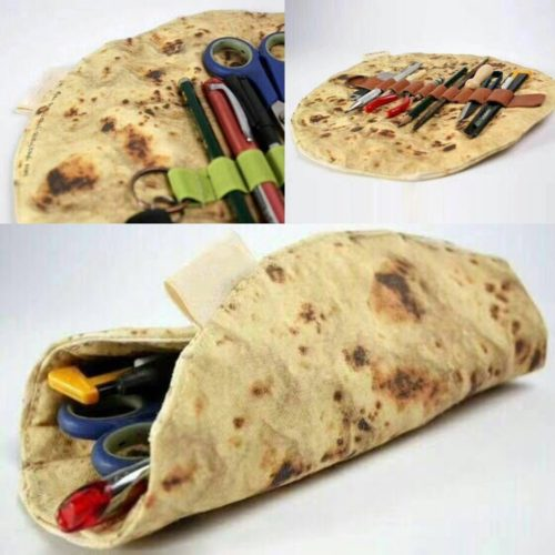 Makeup Pouch Tortilla Wrap Design