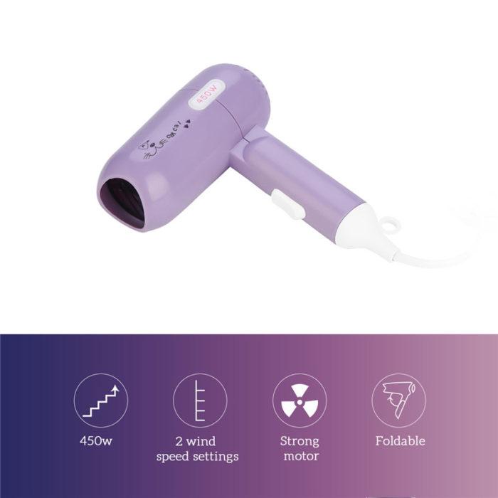 Portable Hair Dryer Foldable Blower