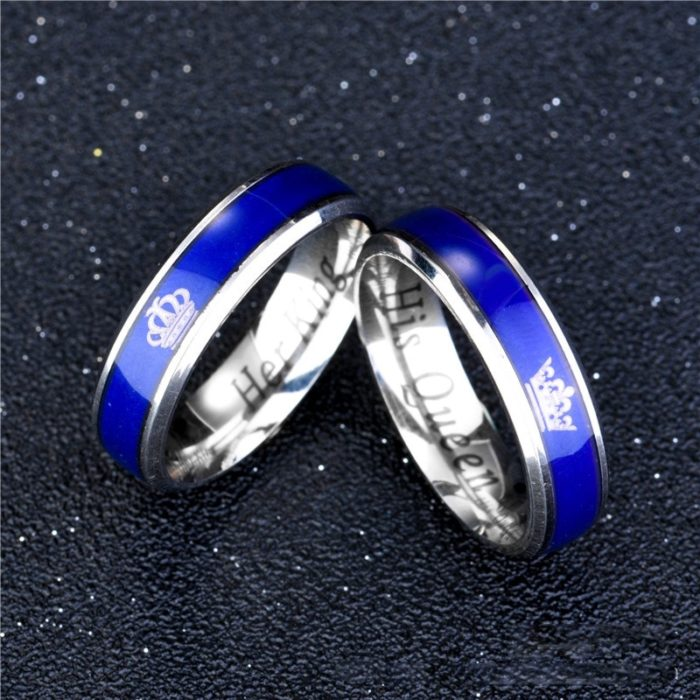 Mood Ring Promise Band For Couple