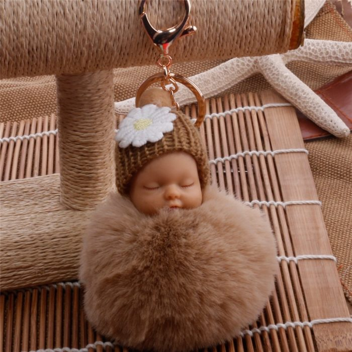 Cute Keychains Pompom Baby Doll