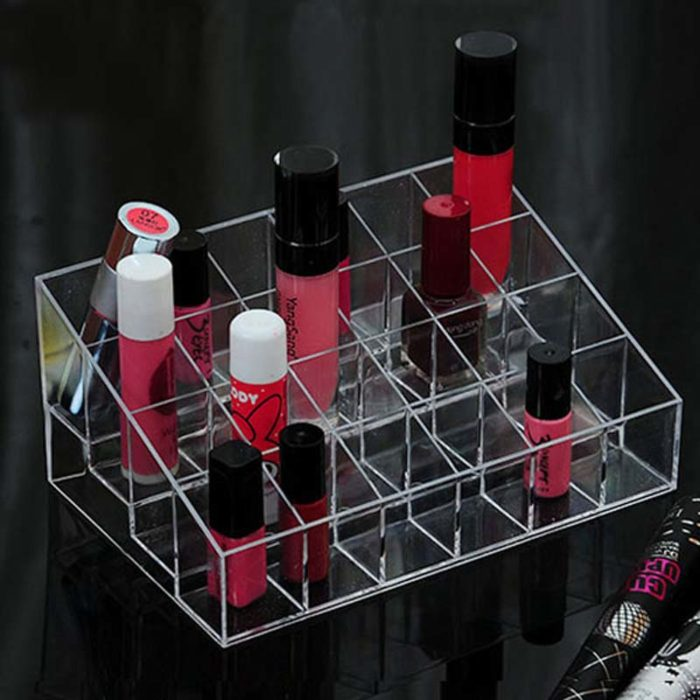 Lipstick Holder Transparent Cosmetic Stand