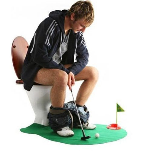 Mini Golf Course Toilet Bathroom Game