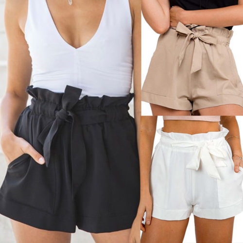 Ladies Shorts High Waist Short