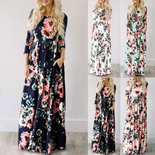 Summer Floral Bohemian Dress