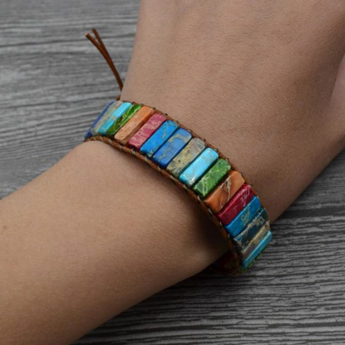 Chakra Bracelet Healing Stone Jewelry