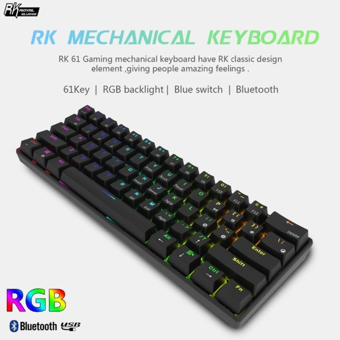 Wireless Gaming Keyboard Colorful Backlights