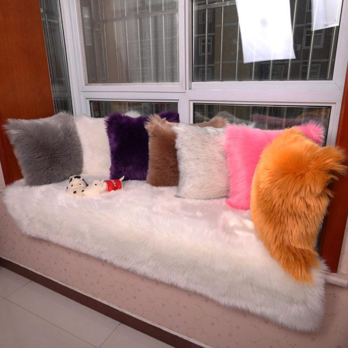 Decorative Pillow Covers Fur Case