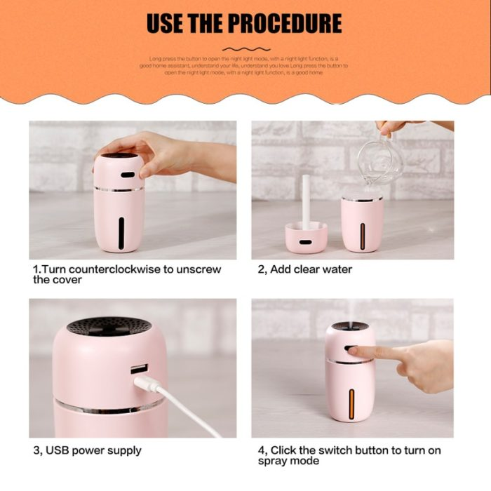 Oil Diffuser Portable LED Humidifier