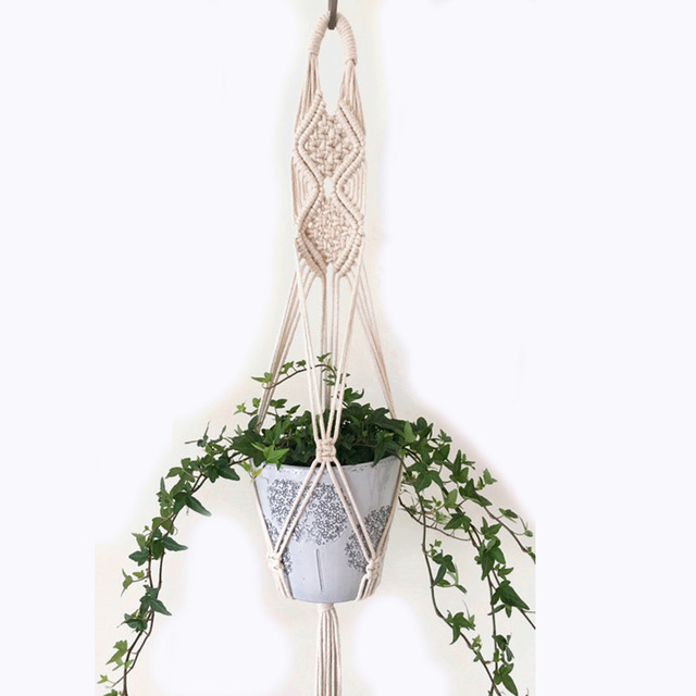 Handmade Macrame Cotton Rope Plant Pot Hangers