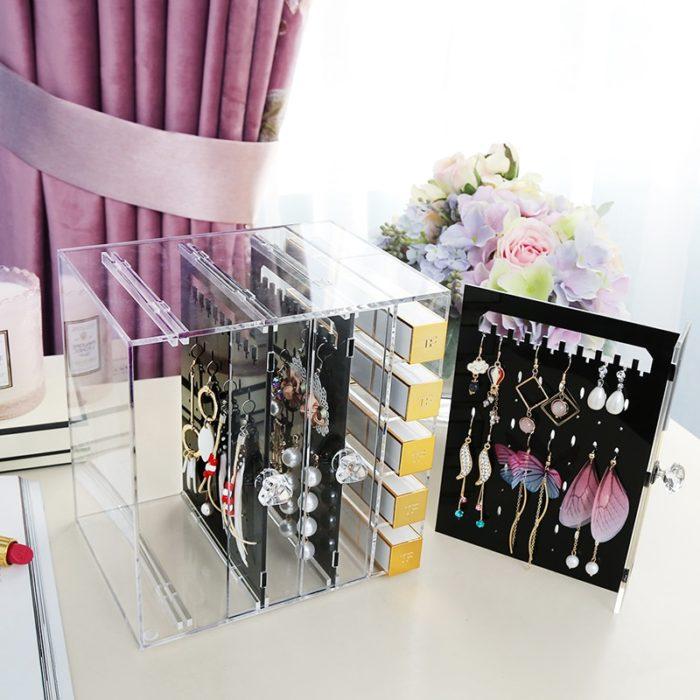 Earring Organizer Acrylic Rack Box