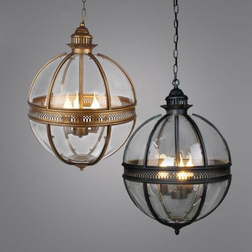 Globe Chandelier Vintage Light