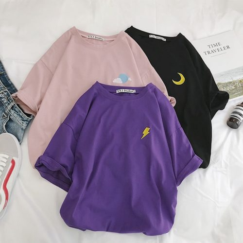 Oversized Shirt Women Cotton Tops