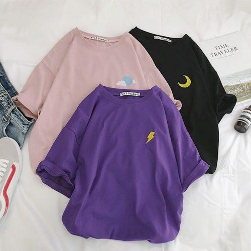 Oversized Shirt Women Cotton Tops